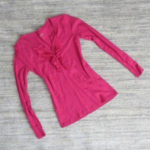 LOFT Pink Long Sleeve Shirt